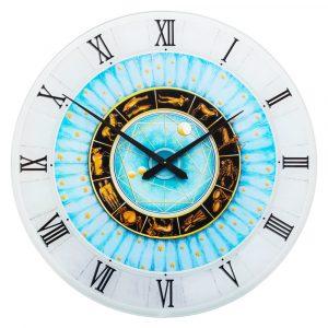 Часы настенные голубые